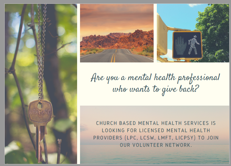 Are You a Mental Health Provider Who Wants to Give Back?
